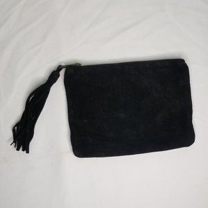 LEATHER black clutch